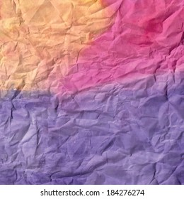 Abstract hand painted watercolor background. Texture of crumpled paper. raster background
