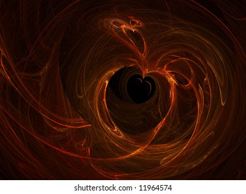 abstract heart in the hole