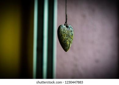 Abstract Heart Locket