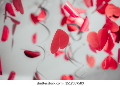 Abstract hearts. Background for postcards. Lots of red hearts.