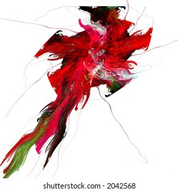Abstract hibiscus illustration