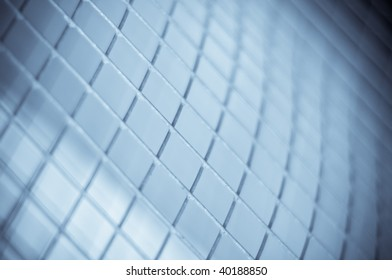 abstract hi-tech mesh grid pattern background made out of wires