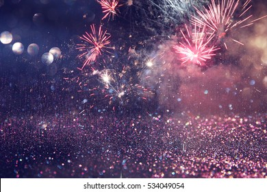abstract holiday firework background.
