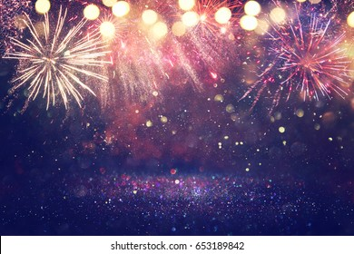 abstract holiday firework background