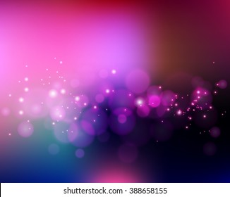 Abstract holiday light background with bokeh. Summer blurred banner with bokeh effect. Color light Bokeh effect. Blurred background.
