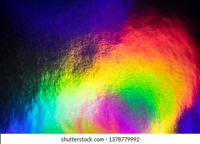 Abstract Holographic Multicolour Glowing Sci-fi Rainbow Background