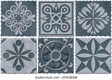 abstract home decorative ornament wall tiles design pattern background,