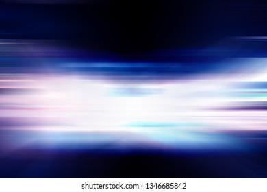 Abstract horizontal motion speed city light