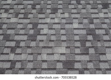 Abstract horizontal pattern gray stone roof tile texture background or wallpaper.