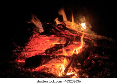 abstract hot fire in darkness
