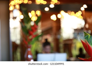 Abstract hotel lobby blur background
