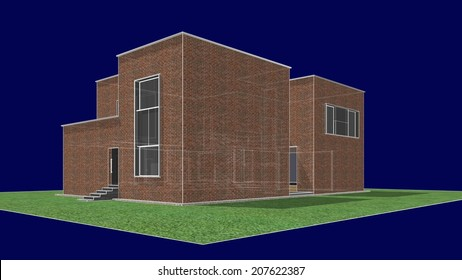 abstract house building