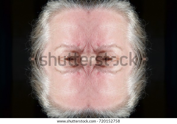 Abstract Human Monster Face Scary Eyes Stock Photo (Edit Now) 720152758