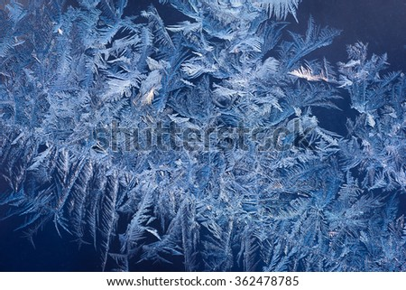 Abstract Ice Pattern On Winter Glass Stock Photo Edit Now Stunning Ice Pattern