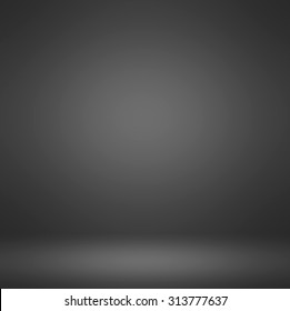 Abstract illustration background texture of dark and light clear blue, gray, black and white gradient flat wall and floor in empty spacious room interior