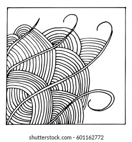 Abstract illustration in doodle - black and white