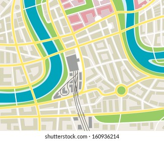 abstract illustration of a historical city map