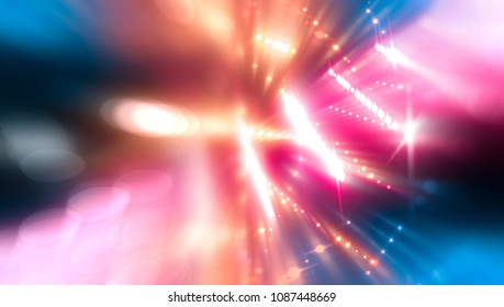 abstract illustration pink multicolored background with defocused bokeh