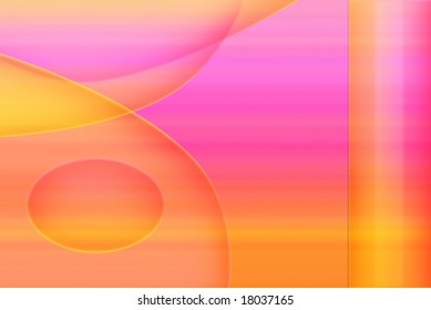 Abstract illustration in shades of pink and orange.