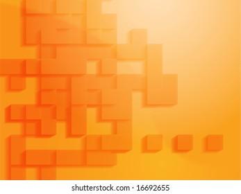 Abstract illustration wallpaper of geometric shape blocks