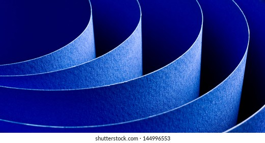 Abstract image of blue paper rolls
