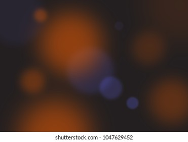 Abstract image of blurry translucent balls of light