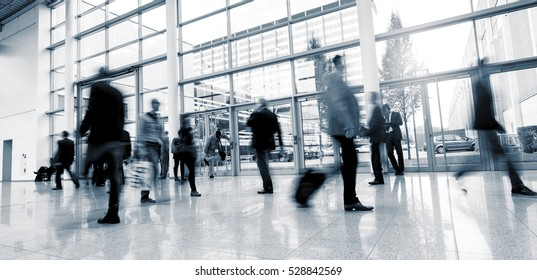 Abstract Image of Business People Walking