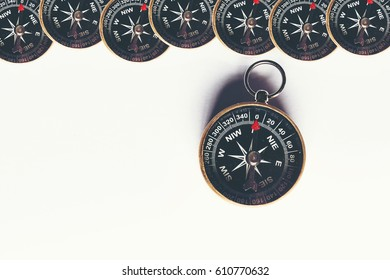 the abstract image of compasses , the concept image of journey