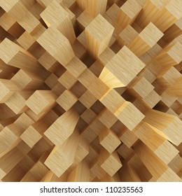 Abstract image of cubes background...