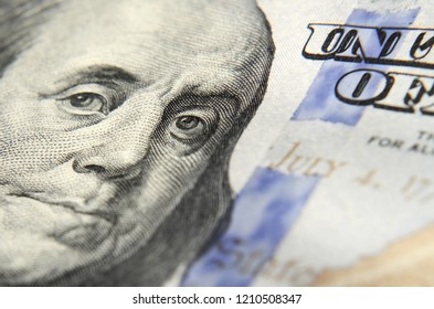 Abstract image with dollar notes (sanctions, success, time is money - concept)