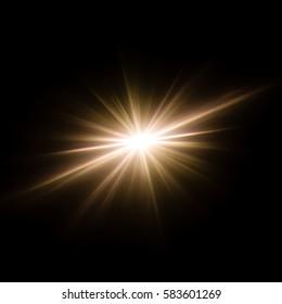 Abstract image of lighting flare and flash, like supernova star.