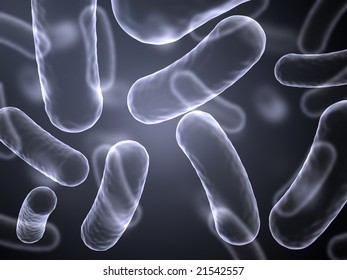 Abstract image of magnified bacteria cells