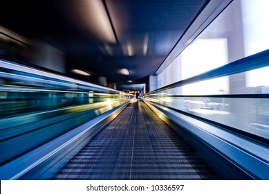 abstract image a moving escalator (BLURRY !)