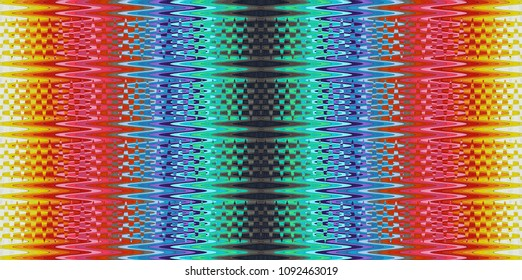 Abstract image of the multicolored waves
