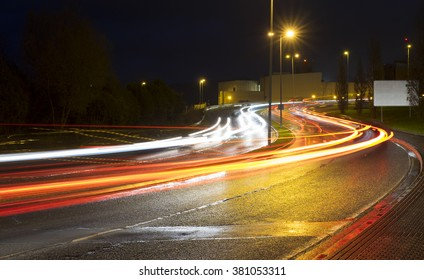 Abstract image of night traffic in the city
