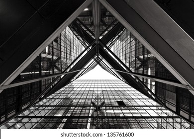 Abstract image of office building