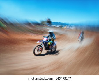Abstract image of an off-road motocross racing