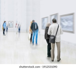 Abstract image of people in the lobby