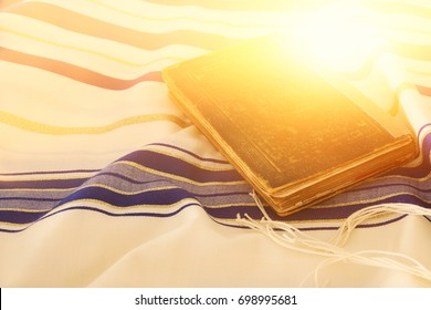 Abstract image of Prayer Shawl - Tallit, jewish religious symbol