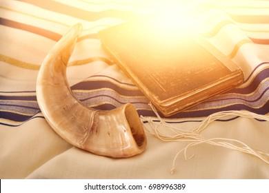 Abstract image of Prayer Shawl - Tallit, jewish religious symbol