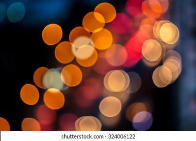 Abstract image of street light blur for background.