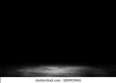 Abstract image of Studio dark room concrete floor grunge texture background.