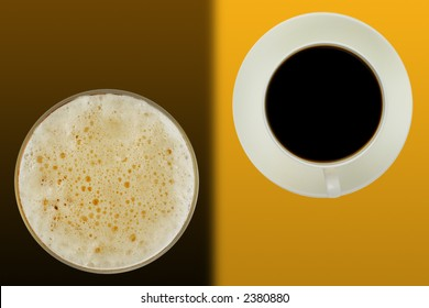 Abstract image suitable for the cover of a coffee bar menu