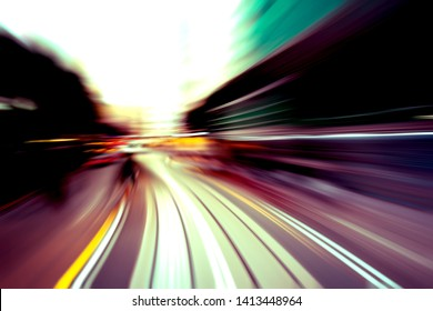 Abstract image of traffic light trails in the city