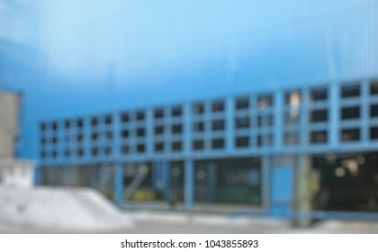 Abstract industrial steel factory  hall outside