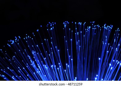 abstract information technology background with fiber optics