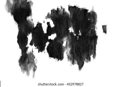 Abstract ink background. Marble style. Black, white ink in water
