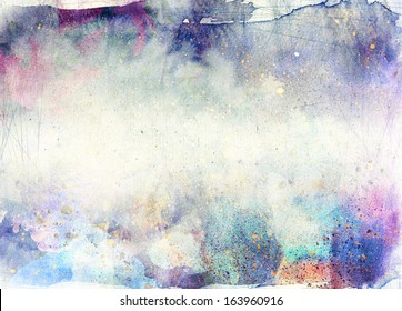 abstract ink painting with brush strokes - grunge background
