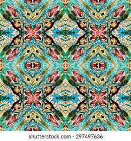 abstract Intricate kaleidoscope seamless pattern background