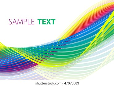 Abstract iridescent tape. Rasterized vector